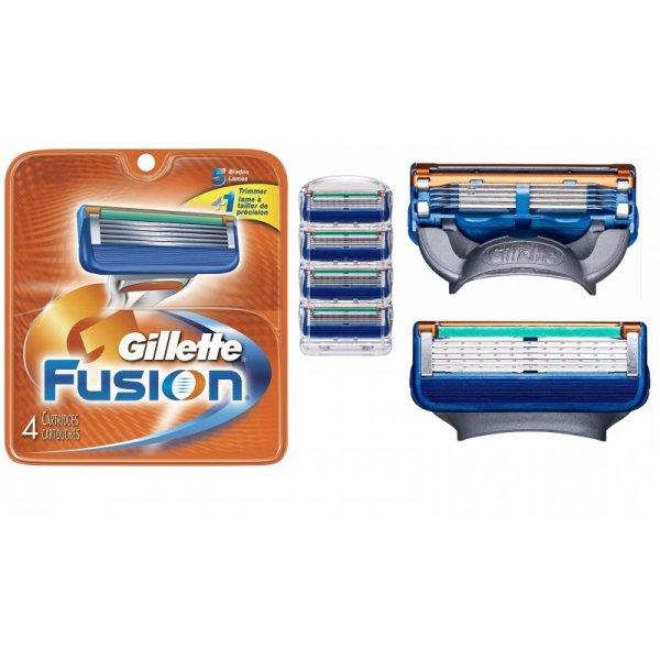 4 Gillette Fusion Razor Blade Cartridge Refill Flexball