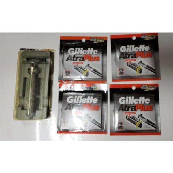 Gillette Atra Cartridges Refills Metal Razor Shavert