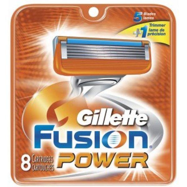 8 Gillette Fusion Power Razor Blades Shaver Replacement Cartridges Refills
