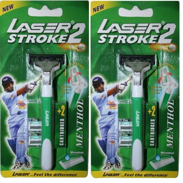 2 Laser Stroke2 Fit Gillette Atra Razor Blade