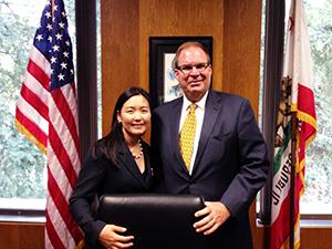 Caroline Gim with Tom White (Ian C. Calderon Chief of Staff)