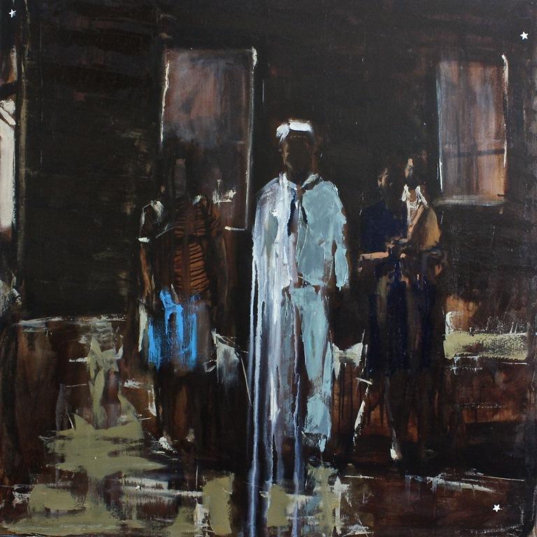 Sister Sailor Wife Bride, oil on canvas, 36 x 36, Star Dust 2013, $2,000.00