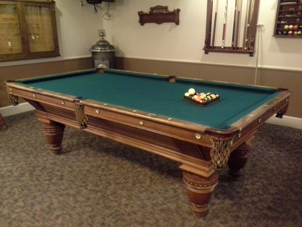 Winfield Stratton's own pool table. (Credit: DeLyn Martineau)