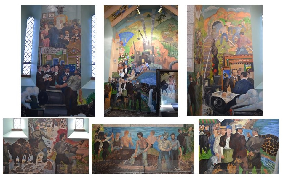 Parts of the Davey frescoes in the ground-floor room of the Shrine. (Credit: Sherrie Horn)