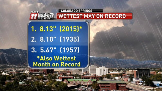 Not only the wettest May on record, but the wettest month. (Credit: KKTV Weather Facebook Page)