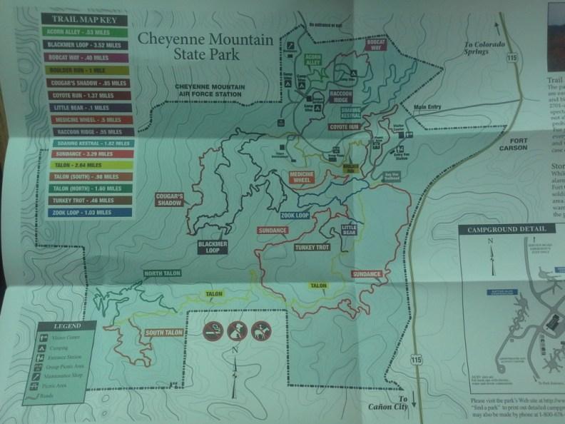 CMSP Trail Map. (Credit: DeLyn Martineau)