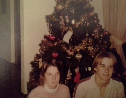 My brother Dean and me, Christmas 1980. (Credit: Jan Winters)