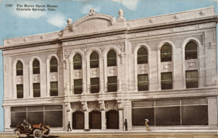 A Postcard of the Burns Theater (Credit: Penrose Library Digital Collection).