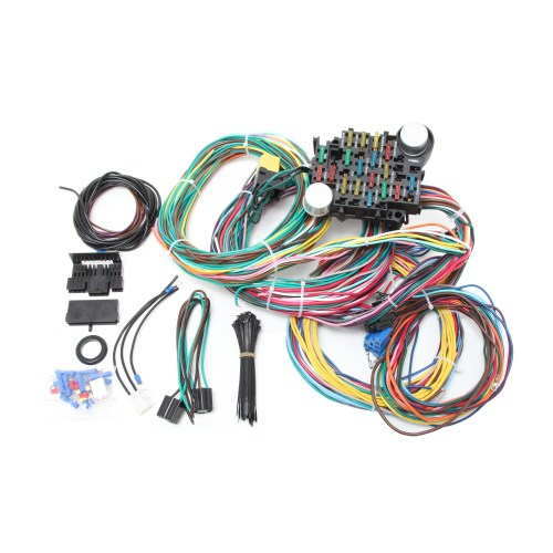 small resolution of universal 24 circuit wire harness kit
