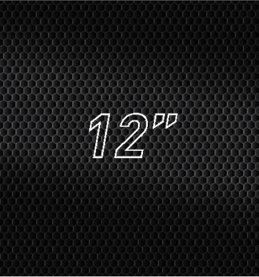 "12"" Oval"