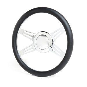 14″ Billet Avenger Style Steering Wheel Kit – Chrome