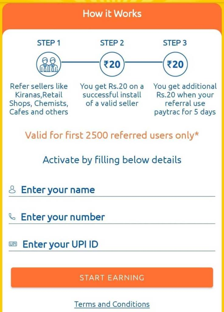 How to Refer Paytrac App