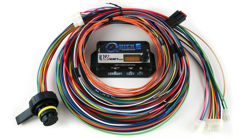 medium resolution of quick 6 stand alone transmission controlquick 6 controller with wiring harness