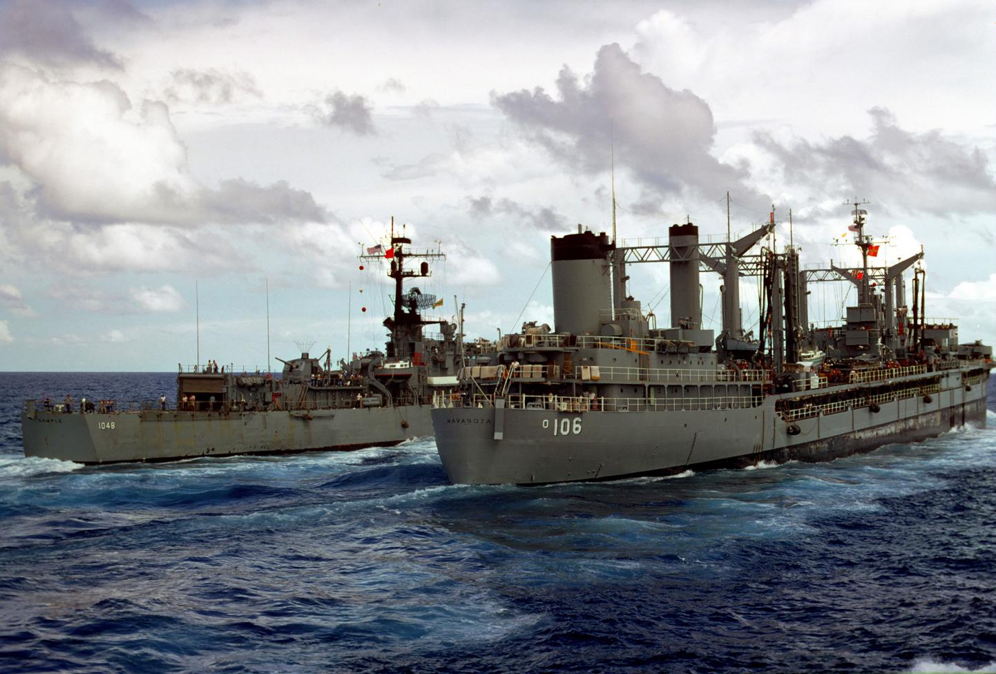 USS Thomaston Refueling and Transfer Photos