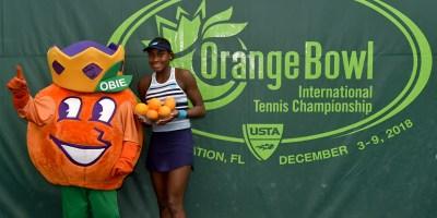 Coco Gauff wins Orange Bowl girls' 18s singles title