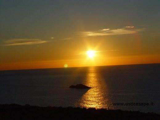 Scoglio del medico, tramonto