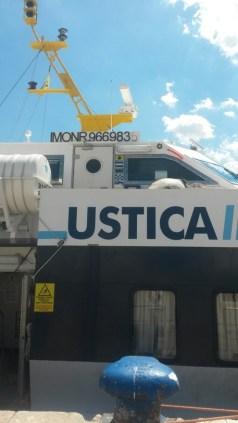 Aliscafo Ustica lines per Eolie. ANSA/FRANCESCO CARBONE