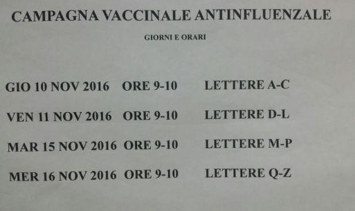 Campagna vaccinale antinfluenzale