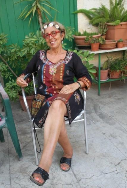 Una giornata di relax dell'ex brava segretaria comunale di Ustica, dottoressa Calogera Di Gangi