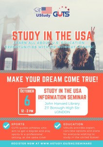 Study in the USA seminar - LONDON, UK @ John Harvard Library | England | United Kingdom