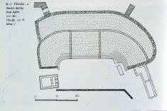 Diagram of the Theatre at Thorikos (click to see larger image)
