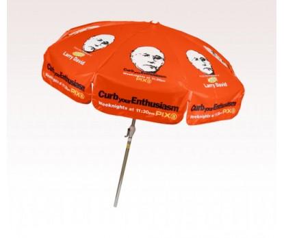 personalized orange 7 5 ft x 8 panel configuration vinyl patio umbrella