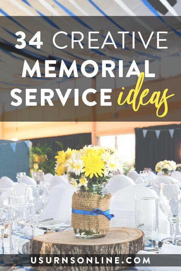 34 creative memorial service