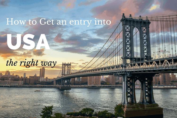 Get an entry into USA