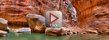 Zion National Park - Zion Narrows 360 Degree Panorama