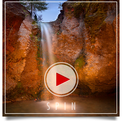 Grotto Falls in Payson Canyon Utah3D Panorama