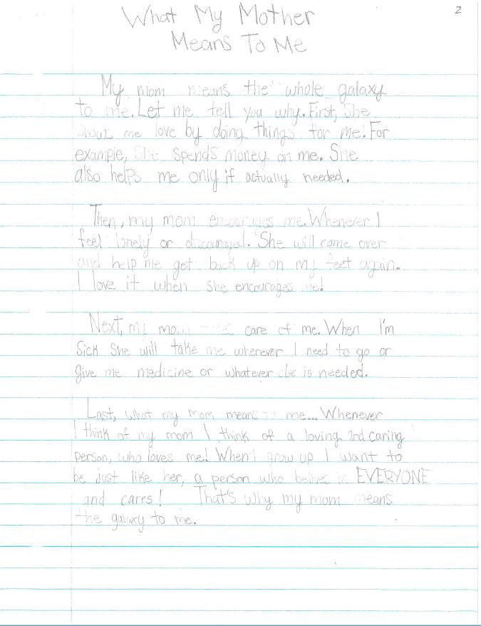 5th Grade Essay Contest