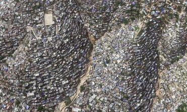 Hill-side slum in Haiti