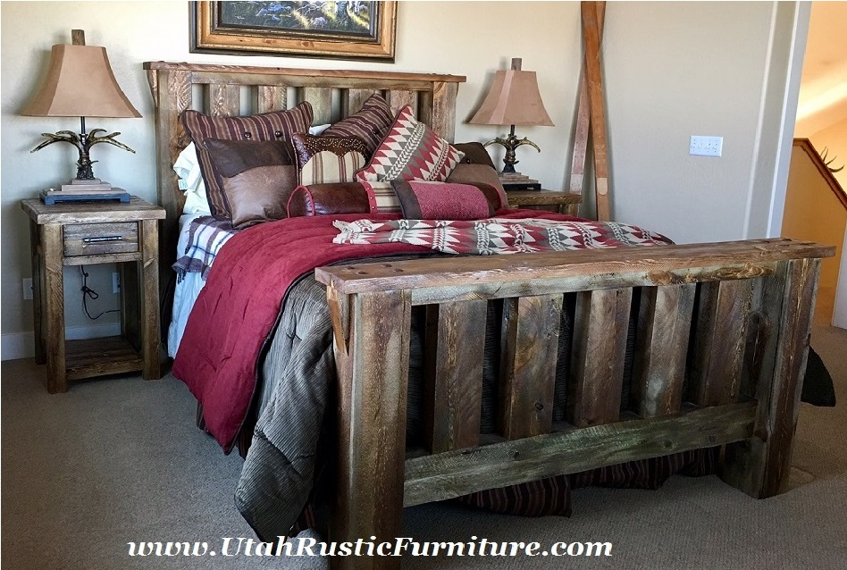 utah rustic bedroom furniture
