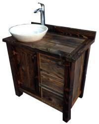Rustic Bathroom Vanities Images : Elegant Black Rustic ...