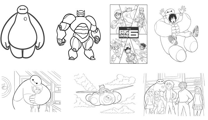 FREE Big Hero 6 Coloring Pages & Activities! Plus FREE