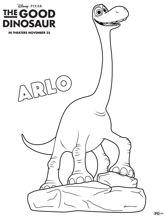 The Good Dinosaur Coloring Pages & Review