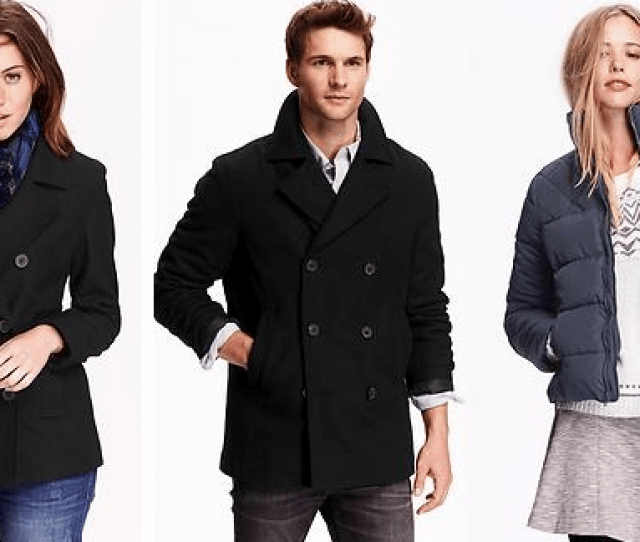 Hurry On Over To Old Navy To Get Mens And Womens Peacoats For Only  80 Amazing Plus They Also Have Crazy Deals On Frost Free Jackets For