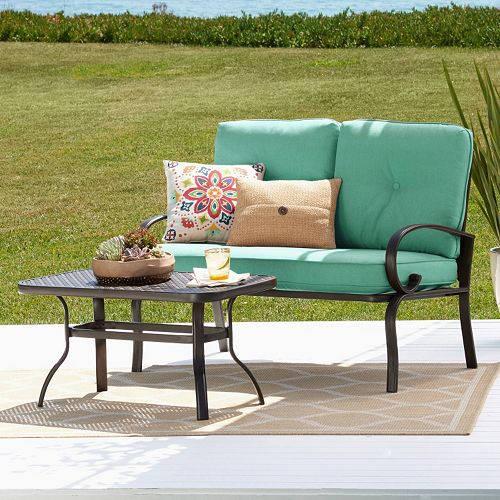 sonoma patio loveseat coffee table