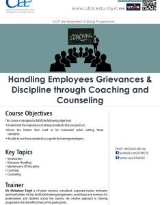 Handling employees grievances  discipline through coaching and counseling also centre for extension education rh utar