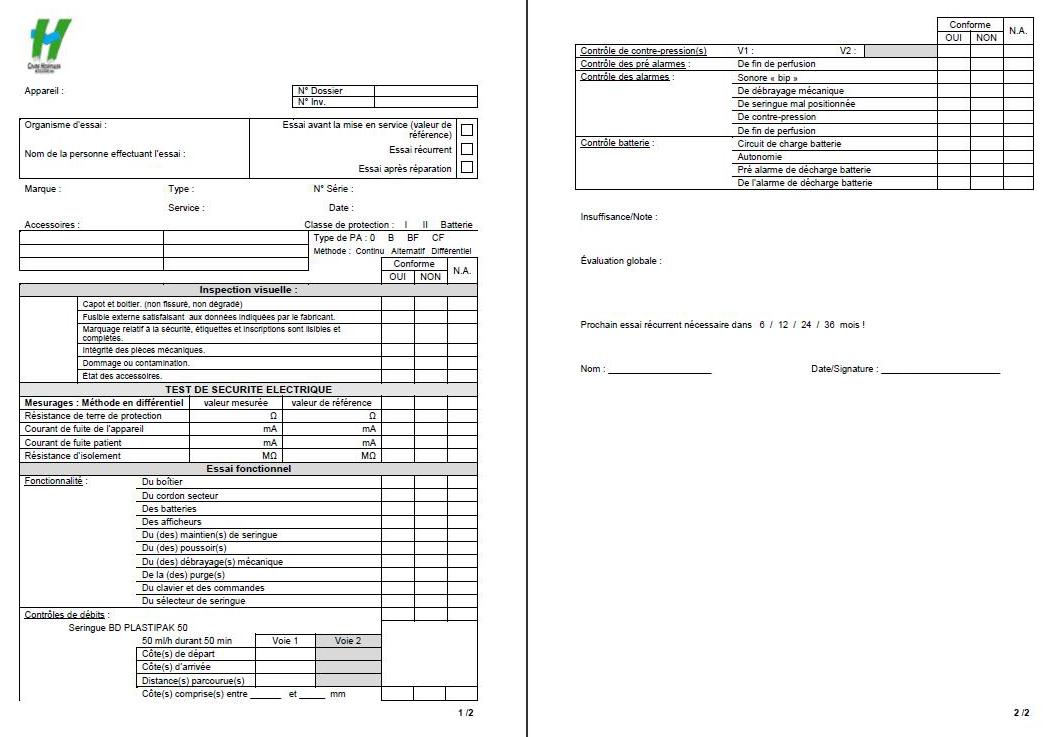 Introduction de la norme NF EN 62353 au Centre Hospitalier