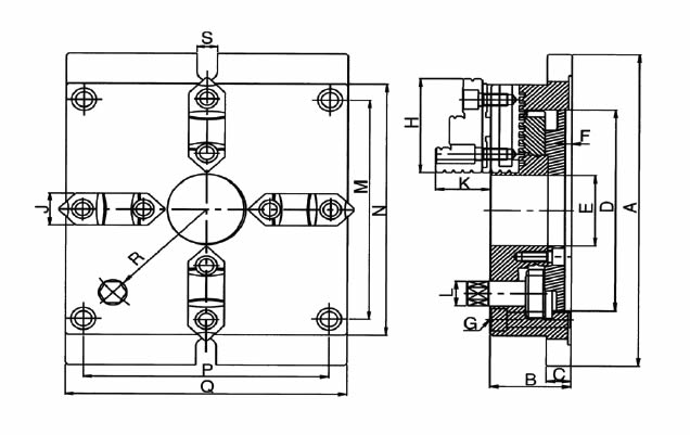 Mandrino autocentrante manuale art.310 extra sottile