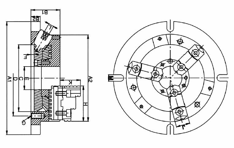 Mandrino autocentrante manuale art.320 non rotante
