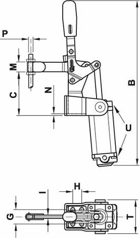 Bloccaggio rapido pneumatico 200/EPV3S apertura manuale