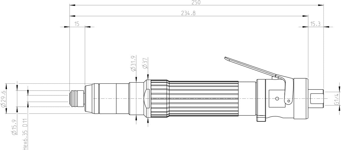 Cacciavite a frizione di sicurezza Atlas Copco S 2370-C
