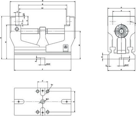 Morsa manuale autocentrante RZM a vite compatta 17-136mm