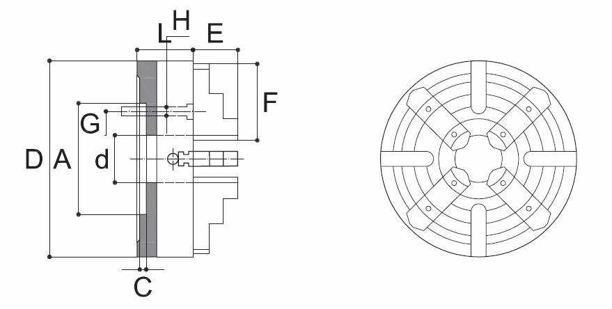 Piattaforma guida semplice art.312R 4 griffe indipendenti