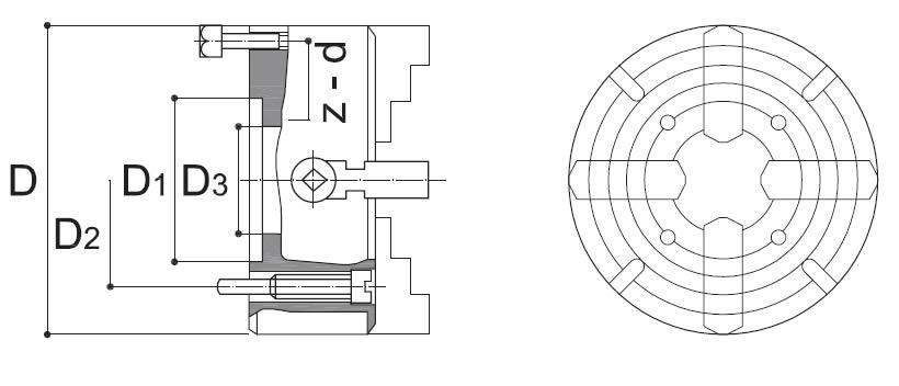 Piattaforma acciaio art.312Y 4 griffe indipendenti da