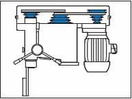 Trapano a colonna V22 con trasmissione a pulegge ø 22 mm
