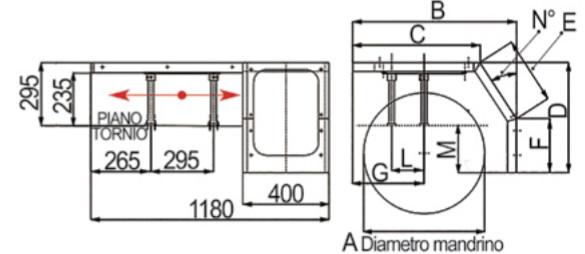 Protezioni scorrevoli per torni 141.MAX 600-1400mm [141.MAX]