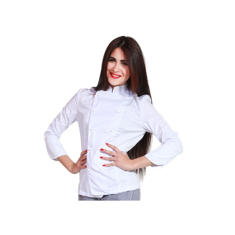 TCD GIACCA CHEF AB060D BIANCA DONNA A NAPOLI